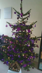 My lovely purple Christmas Tree I have decorated for this year.
