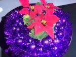 Current Christmas decoration, mini  poinsettias and purple decorations