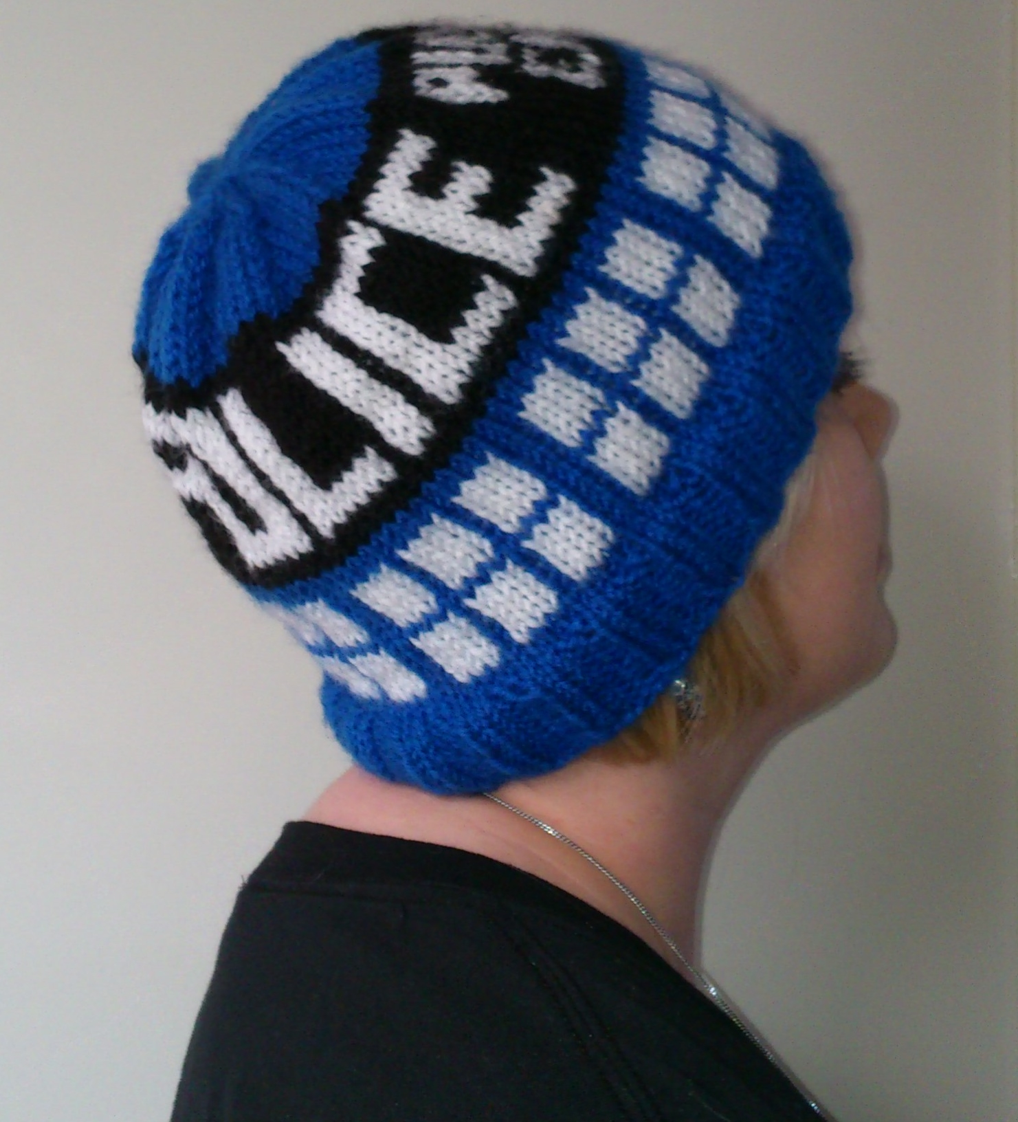 Free Crochet Pattern Tardis Hat : Knit Tardis Hat www.galleryhip.com - The Hippest Pics